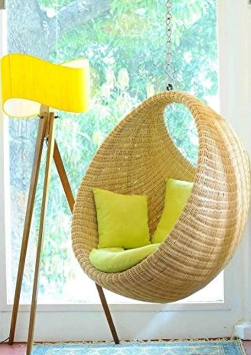 Egg Chair Swing Wicker Basket Design
