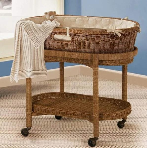 Wicker Newborn Bed Moses Basket
