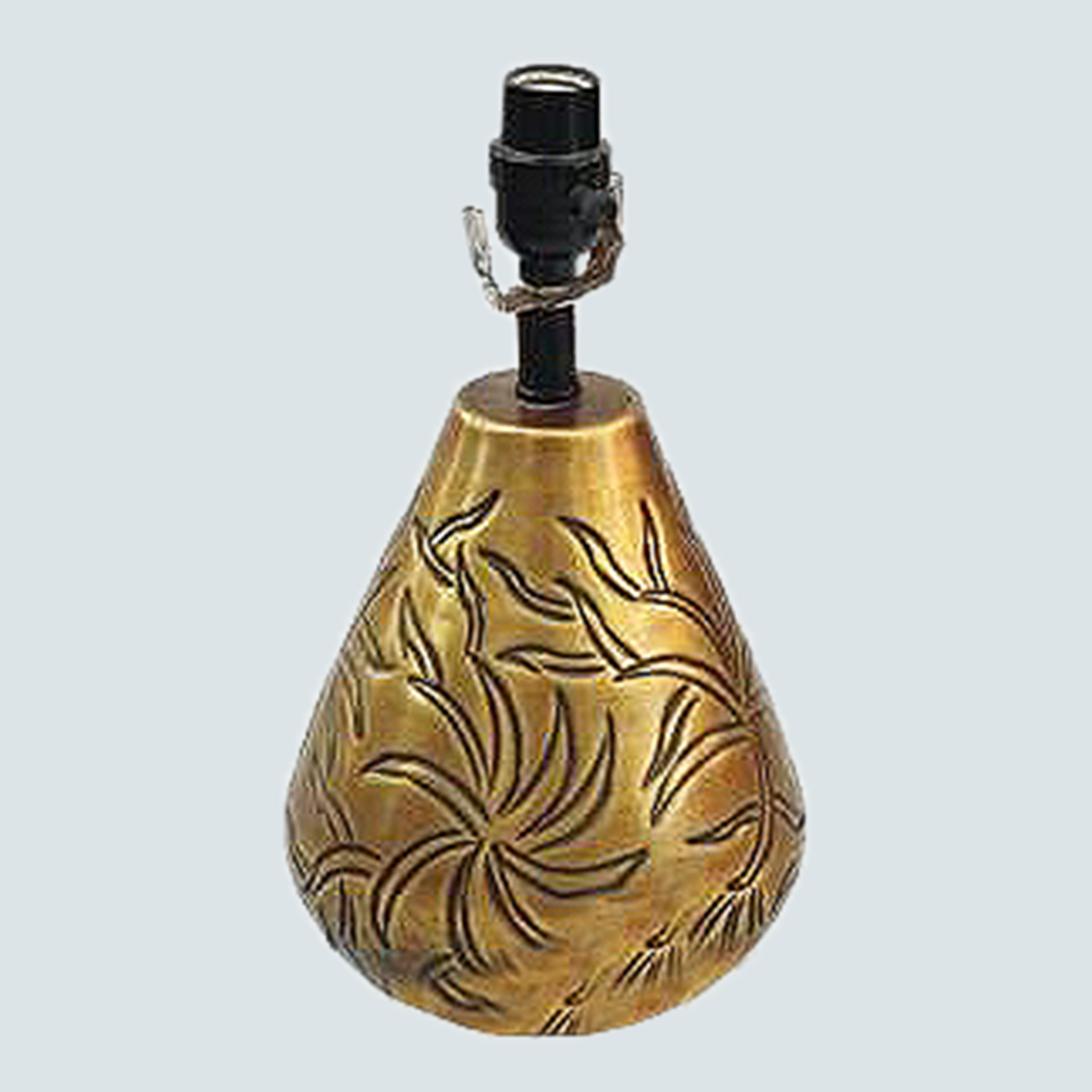 Traditional Table Lamp Carved Brown/golden for Living Room Family Bedroom Bedside Nightstand - Metal- Aluminium