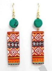 Lac Special Stone Earrings