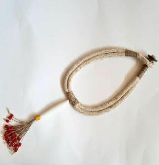 Ethnic Handmade Jute And Beads necklace