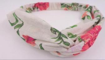 White Floral Boho Headband