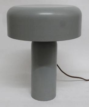 Cylindrical Top with Flat Top with Elongated Cylindrical Stand Lustre Polish Table Lamp