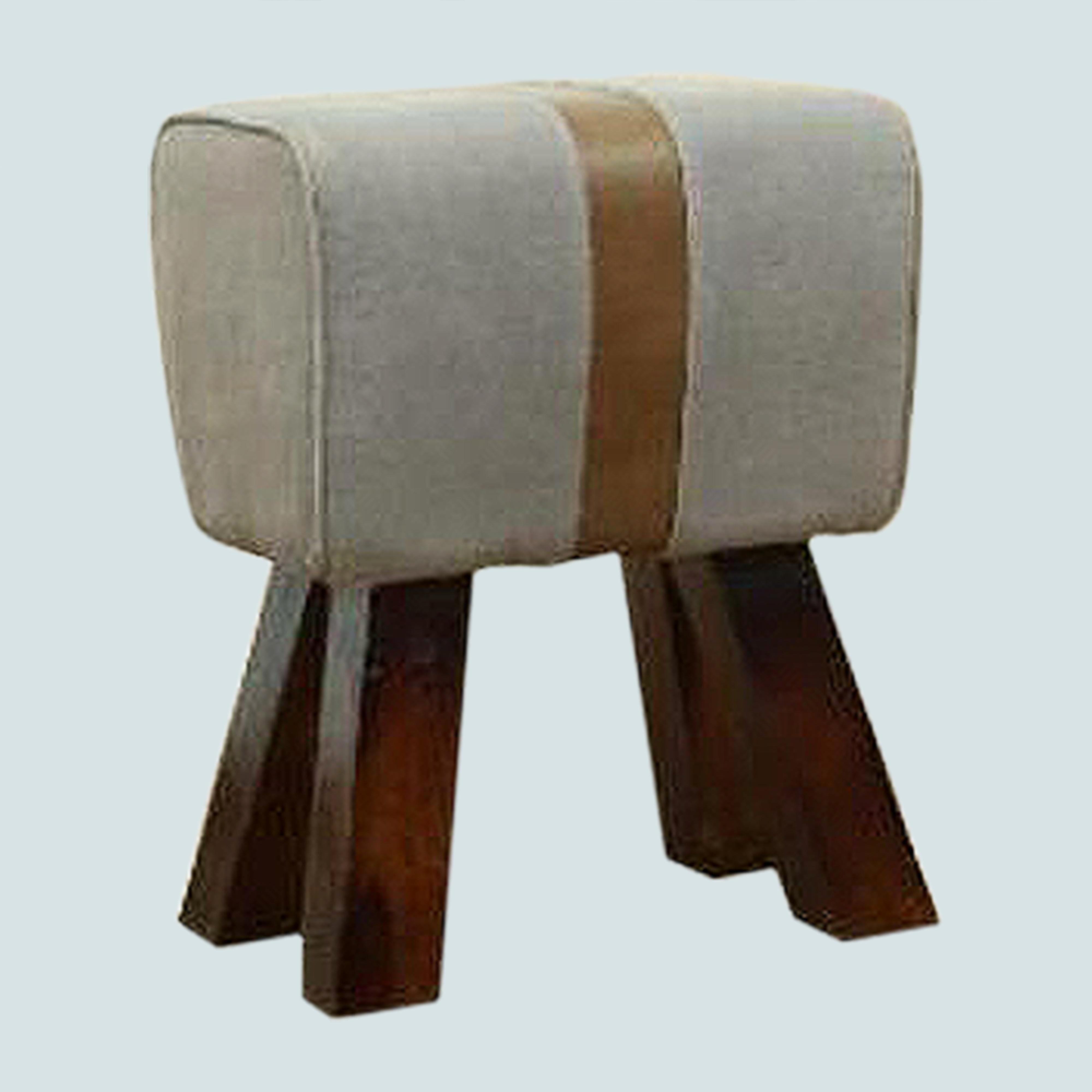 Small Foot Rest Leather Footrest Wooden Foot Stool Faux Upholstered Footstool, Ottoman Footrest