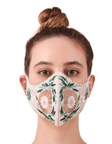 Sparkly Beaded Rhinestone Mesh Mask for Women, Venetian Mardi Gras Jewellery Face Masks for Girls