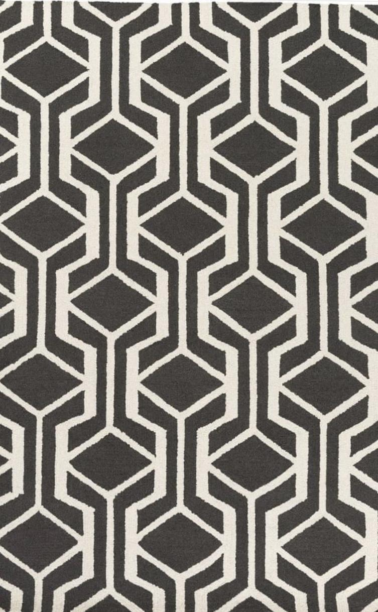 Geometric- Unique Loom  Collection Lattice Moroccan Modern Area Rug