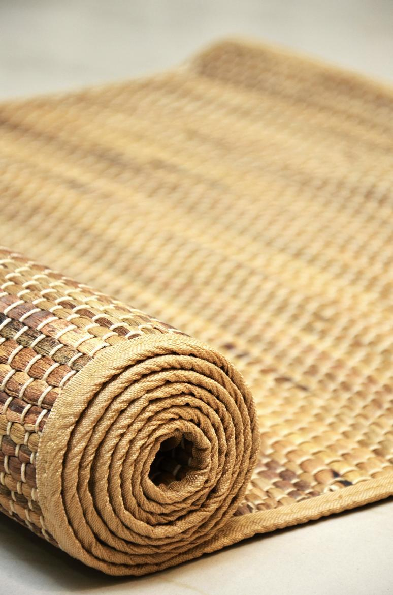 Eco-Friendly Yoga Mat – 4.5 mm Extra Thick 100% Natural Exercise Mat for All Types of Yoga, Pilates and Exercises – Non-Slip, Handmade Sambu Grass & Cotton Fiber Gym Mat - 71 x 27 inches