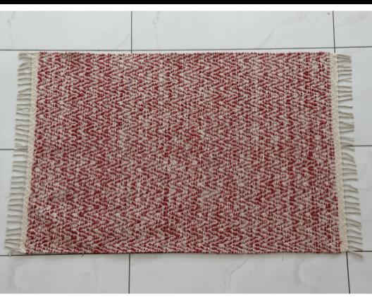 Handwoven cotton polyster rugs