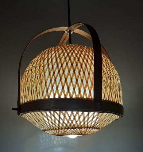 Lighting Handmade Flush Mount Ceiling Light Creative Bamboo Ceiling Lighting fixtures Rattan Lantern Light Vintage Hanging Light for Living Room, Restaurant, Bedroom