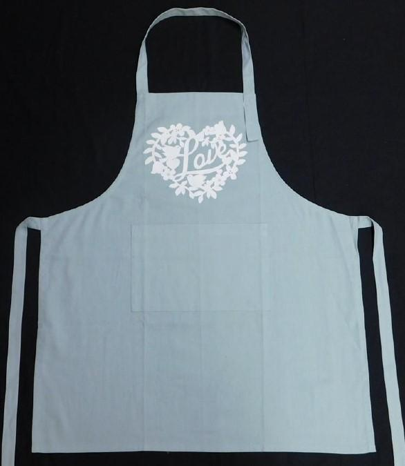 Yourtablecloth Cotton Cloth Cooking Kitchen Apron –  Classic Colors –  Neck Strap – Long Waist Tie  – Ideal for Cooking, Cleaning, Gardening - Apron Light Blue