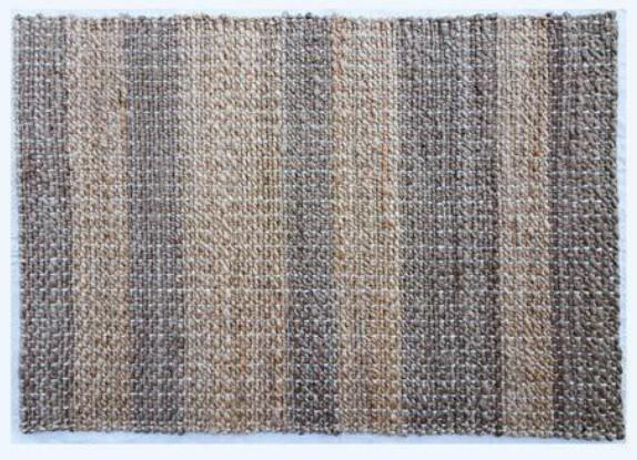 Braided Rug Cotton Area Rug Hand Woven  Floor Rug Pure Tassels Rugs Door Mat Laundry Room Rug Indoor Runner Bathroom, Grey and Brown Lining Design