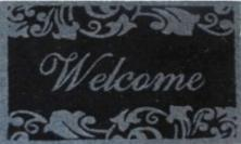 Printed Coir Welcome Doormats with Anti-slip backing