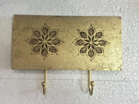 Coat Hook Wooden Wall Hangs Restoring Ancient Ways Hook hat Rack Towel Rack Wall receives Simple Manual Adornment - Gold