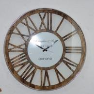 Large Wall Clock Silent Living Room Decor,  Rustic Wooden Wall Clocks for Home Office Kitchen, Brown
