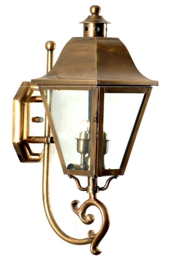 Outdoor Wall Lantern, Wall Sconce Light as Porch Lighting Fixture , Brass Housing Plus Glass, Water-Proof Outdoor Rated  Wall Mount Lights Anti-Rust Waterproof Clear Glass Shade for Garage Doorway
