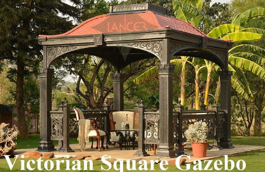 Square VictorianGazebo Pavilion  for Homes, Outdoor Restaurants, Hotels, Café