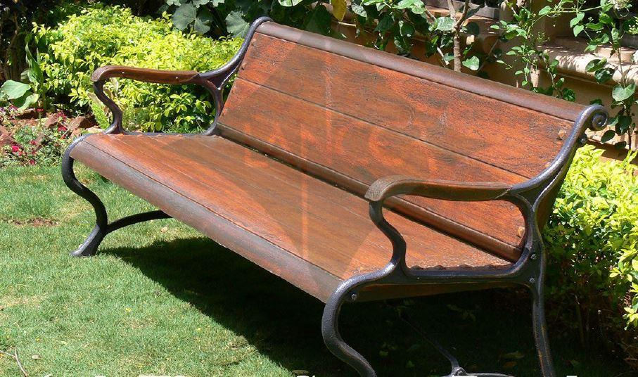 Savannah Garden Bench Triple Seater, Garden Bench, Wood Outdoor Patio, Park, Yard Seat Chair