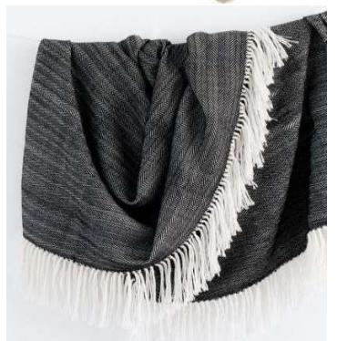 Dark Grey colored designer throw blanket