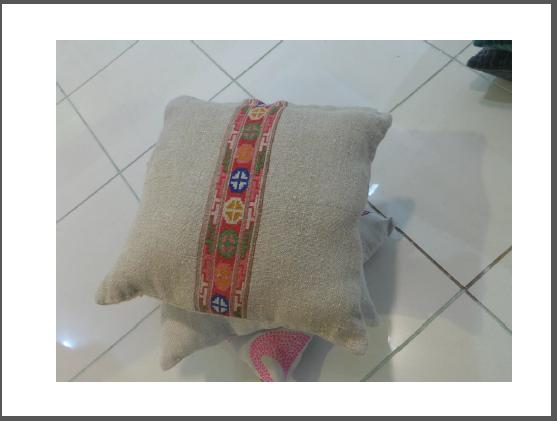 Embroidered multicolor jute cushion covers