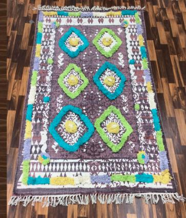 Cotton Printed embroidery dari rug Handmade rugs, Washable Rugs