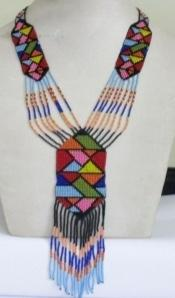 Colourful beaded necklaces