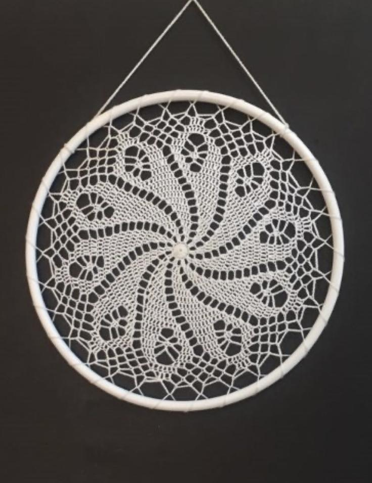 Macrame Wall Hanging Dream Catcher White Tapestry Wall Art Home Wall Decor