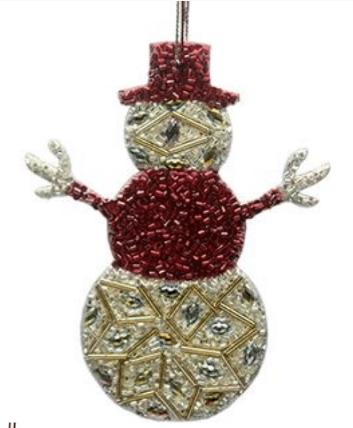 Snowman Christmas Décor Ornament