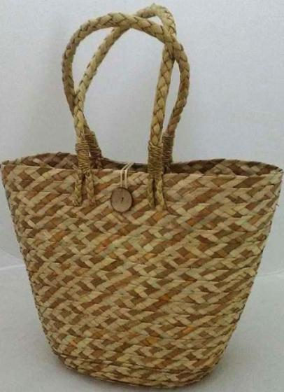 Seagrass Woven Wicker Tote Bags for Women- Handmade, 100% Eco-Friendly, Storage, Fashionable Bag