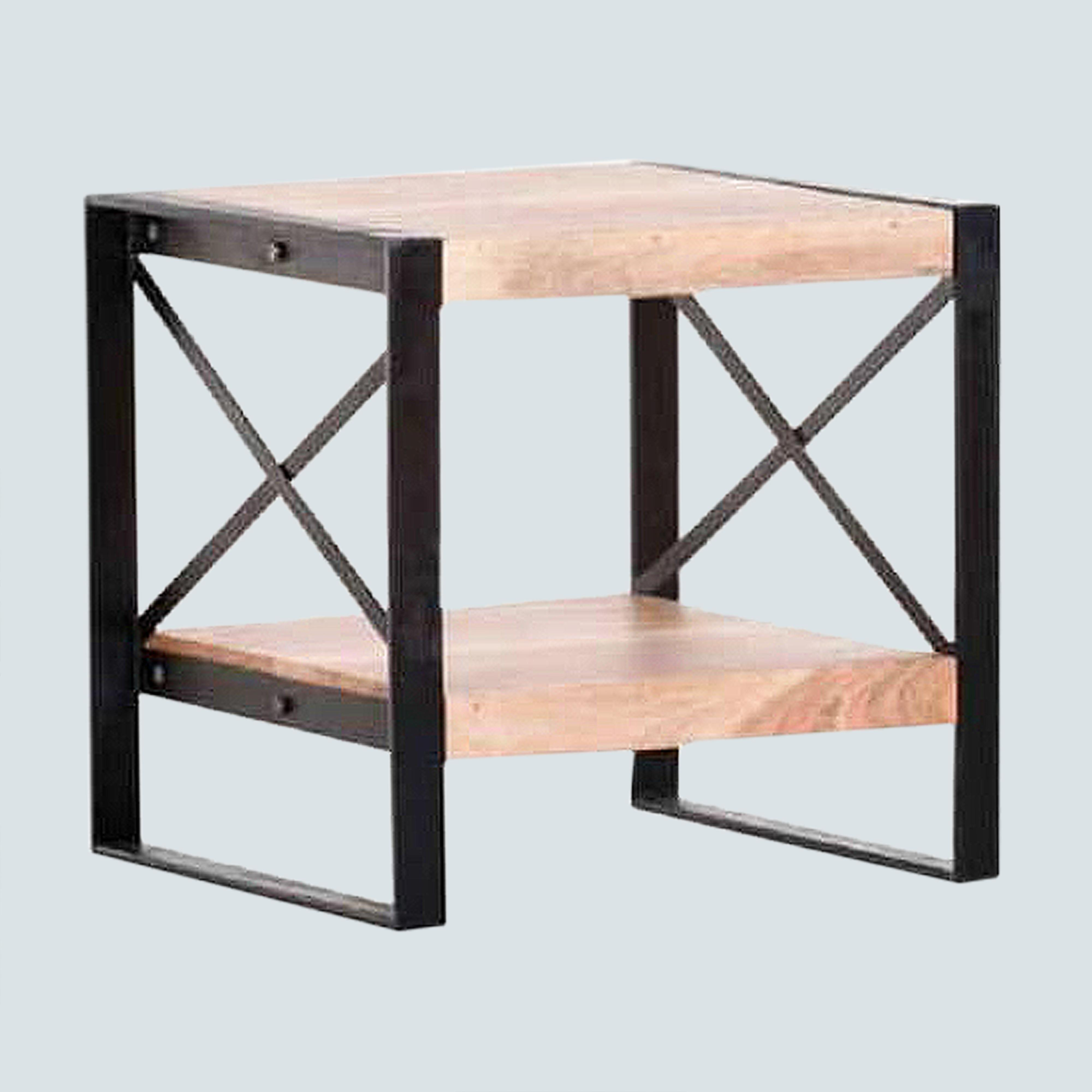 Industrial Side table, End table, Accent table, Sofa table , Night Stand, ChairSide table, Bedside small table with bottom shelf