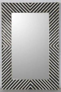 Handmade Decorative Bone Inlay Mirror Frame, Eclectic Accent Mirror