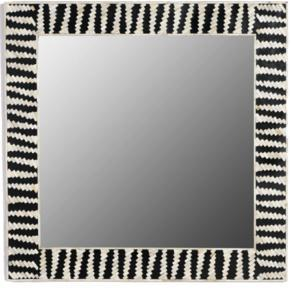 Handmade Decorative Bone Inlay Mirror Frame, Eclectic Accent Mirror