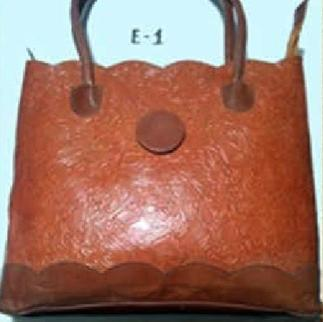 Vintage Handpainted Genuine Leather Shoulder Laptop Bag Work Totes for Women Purse Handbag with Back Zipper Pocket