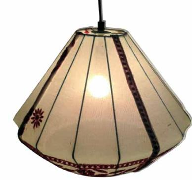 Embroidered Drum Lamp Shade