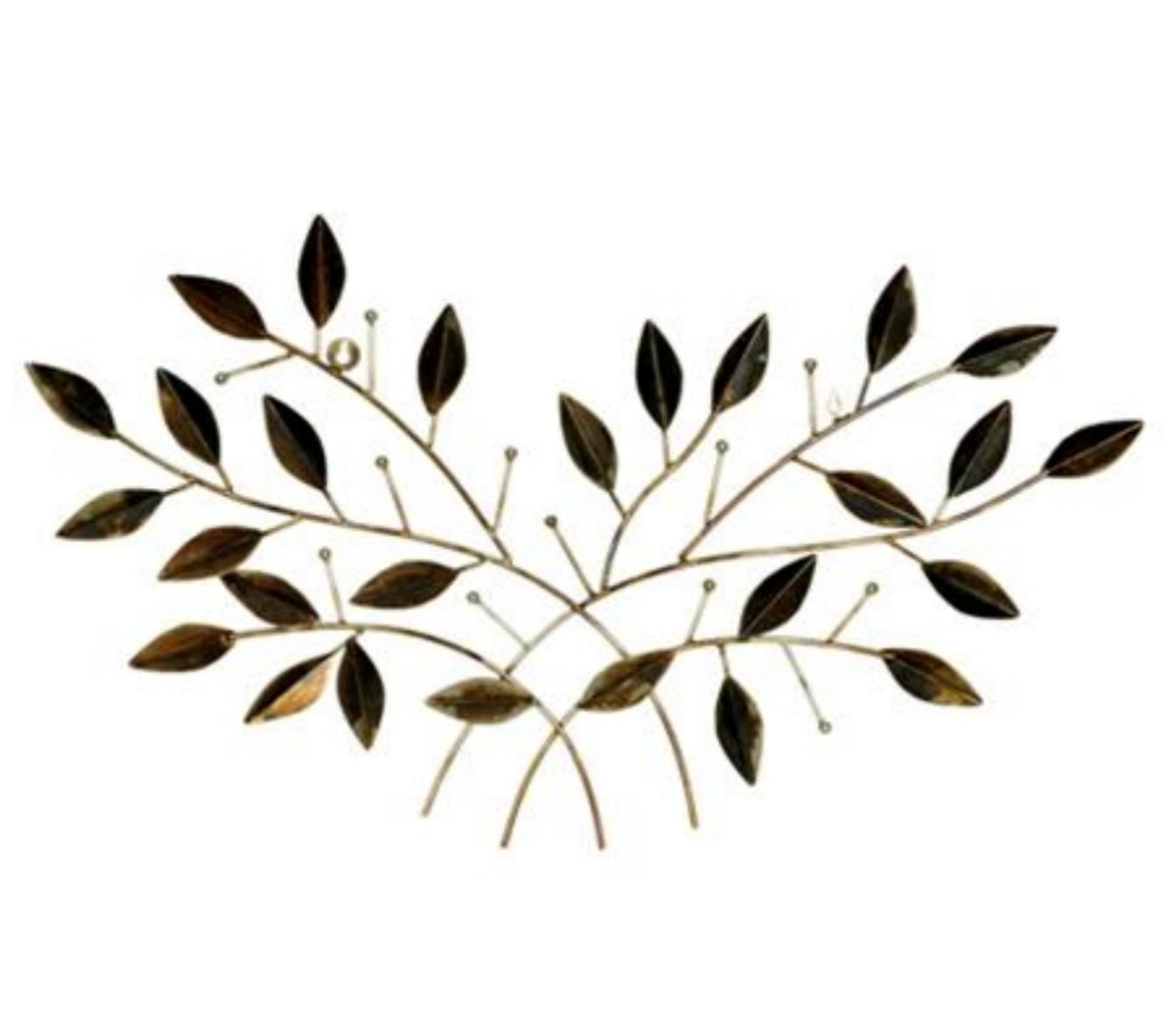 iron wire leaf wall décor