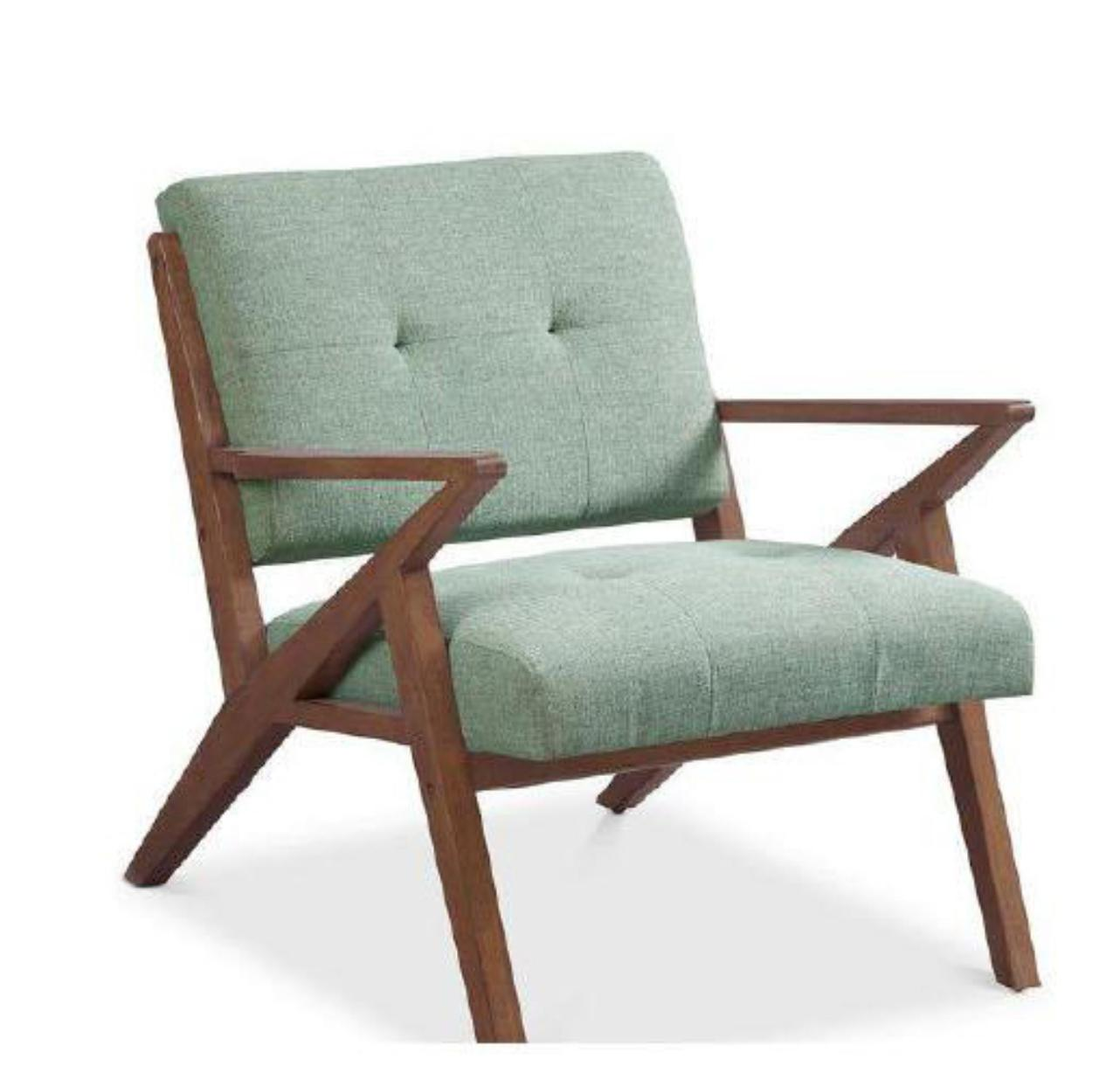 Mid-Century Retro Modern Fabric Upholstered Wooden Lounge Chair | Modern Scandinavian Style Leather