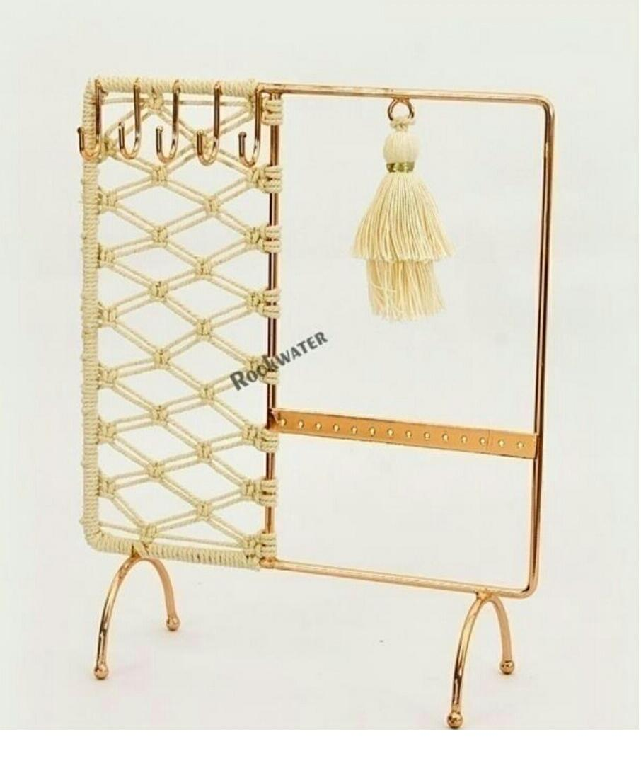macrame arch jwellery holder