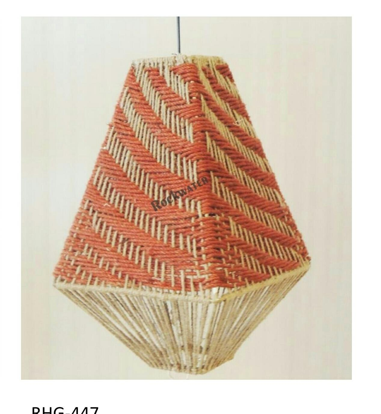 jute diamond shaped hanging