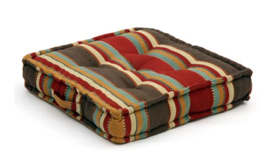 Seat cushion, memory foam, non-slip backrest, durable fabric, superior comfort and softness, reduces pressure and body contours, washable. Decoration: thick brown/yellow/green stripe.