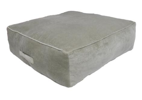 Grey memory foam cushion, non-slip backrest, durable fabric, superior comfort and softness, reduces pressure and body contours, washable.