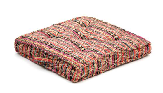 Ethnic multicolors geometric pattern cushion, memory foam, non-slip backrest, durable fabric, superior comfort and softness, reduces pressure and body contours, washable.