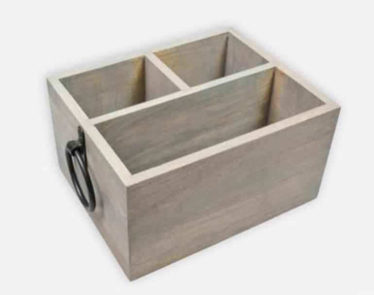 Cutlery Caddy Metal Handles-Wooden Bottle Caddy with Opener & Sampler Boards, Drink Holder for Beer, Soda, Perfect for Bar, Pub, Restaurant, Brew Fest Party, and More