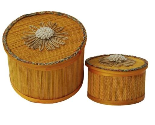 Bamboo Gift Box Large (Yellow)- Perfect for gifting- A set of 2