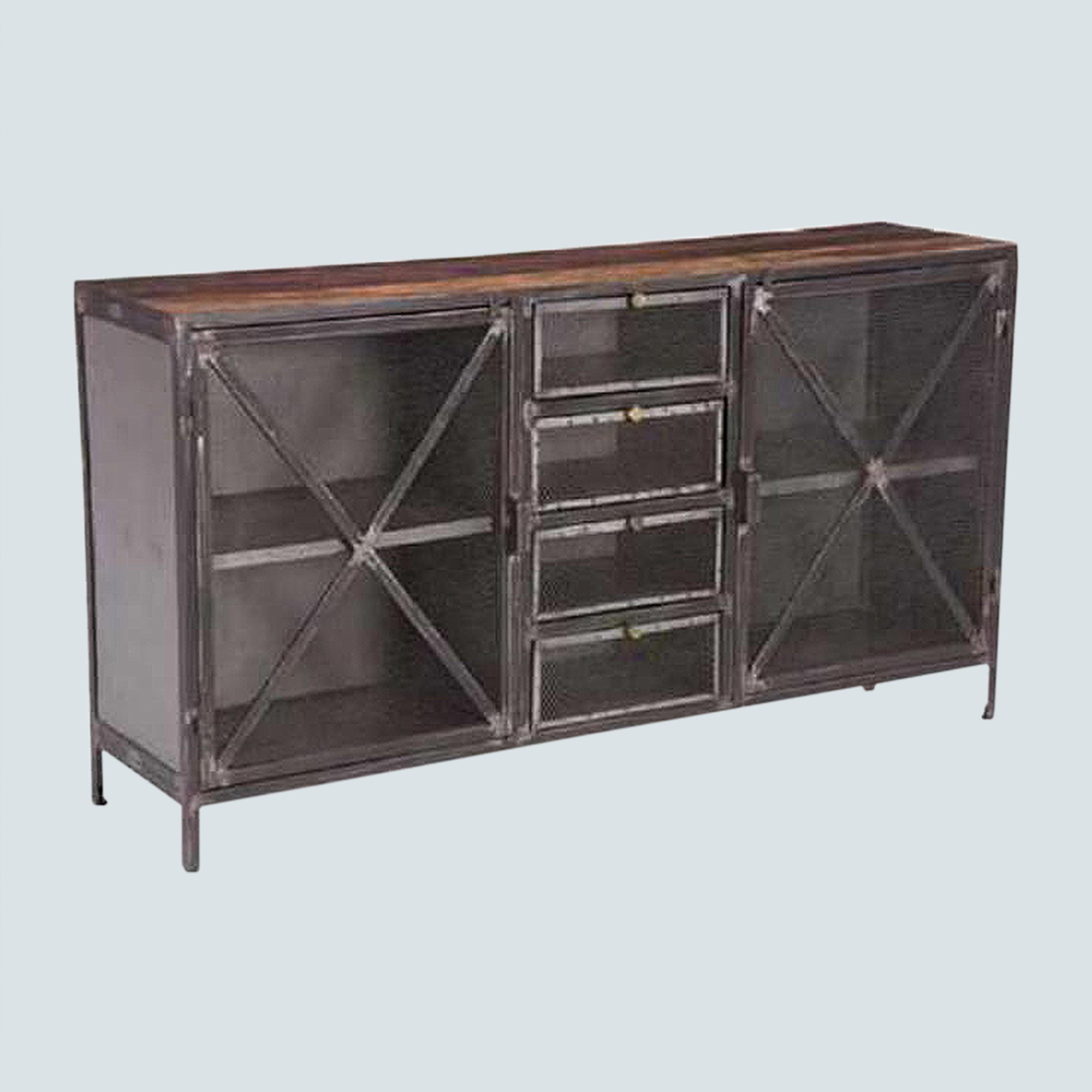 Industrial, Reclaimed wood Entertainment Center, TV Stand,TV Console,  Sideboard Credenza with storage cabinets and shelves