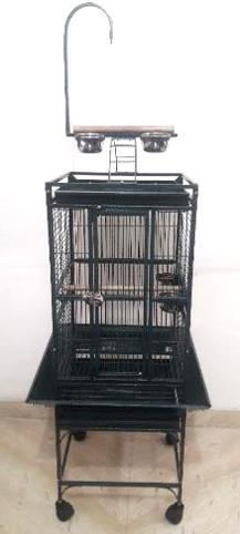 Large Bird Cage with Rolling Stand Parrot Chinchilla Finch Cage