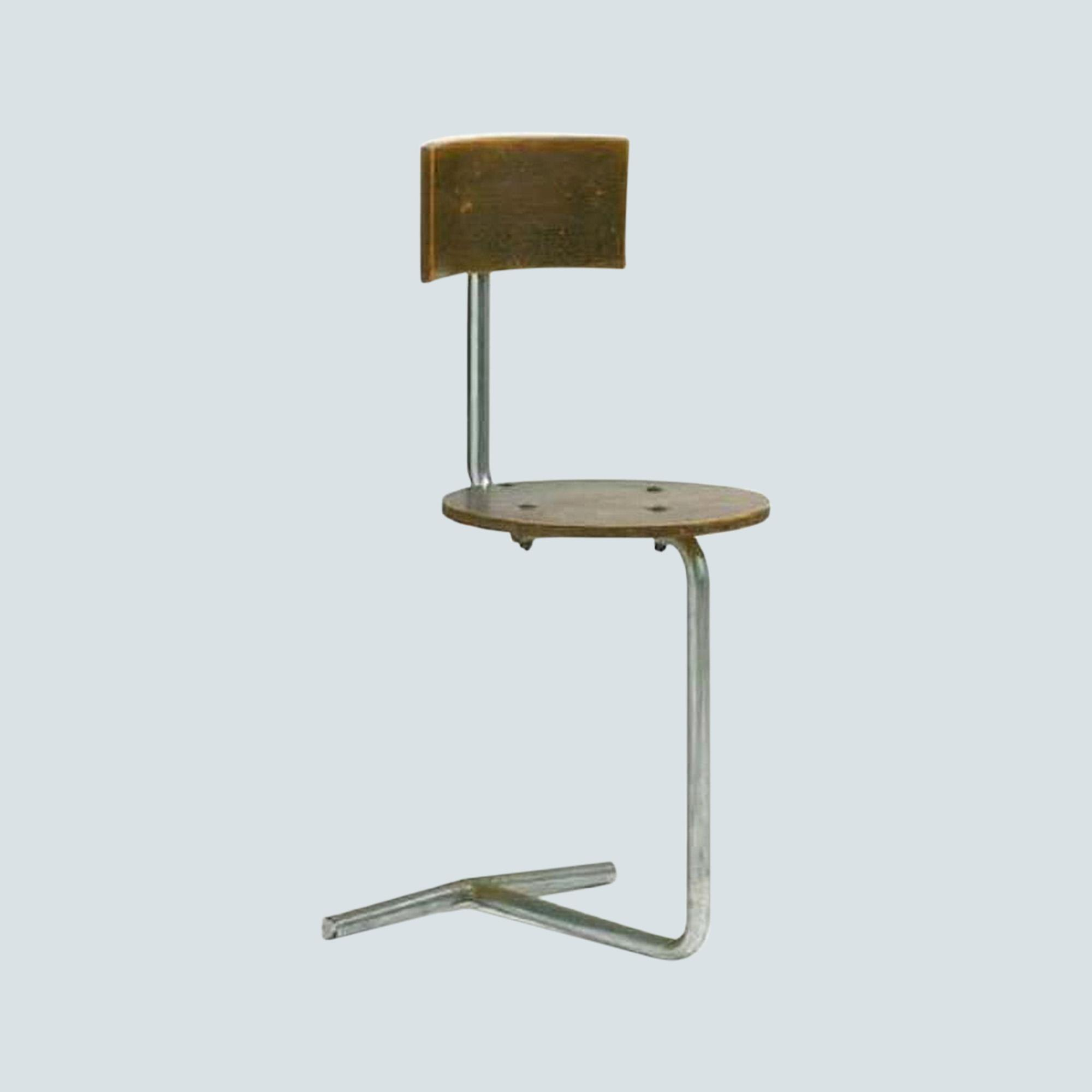 Industrial Bar chair stool with backrest