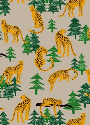 Leopard in Jungle Wrapping Paper