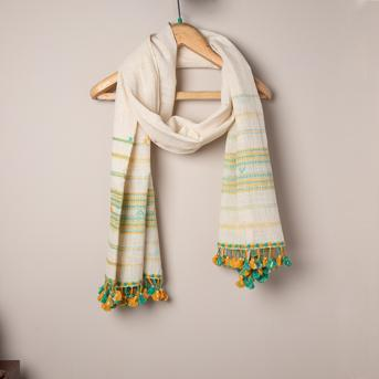 100% Cotton Scarf,Two Tone
