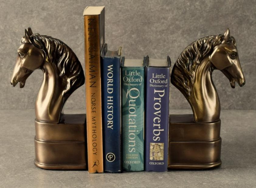 Set 2 Horse Head Bookends Art Bookend